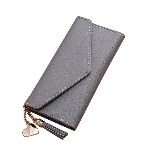 59ec53fb3e45c0 Geldtasche Damen Rosennie Geldbörse Reißverschluss Brieftaschen groß  Kapazität Frauen Leder Geldbeutel Tasche Damen Einfache Lange Brieftasche