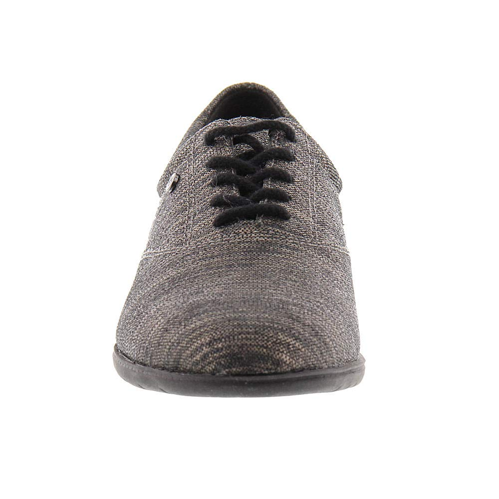 Easy Spirit Damens's Motion up Lace up Motion Oxford Pewter Stripe 177135
