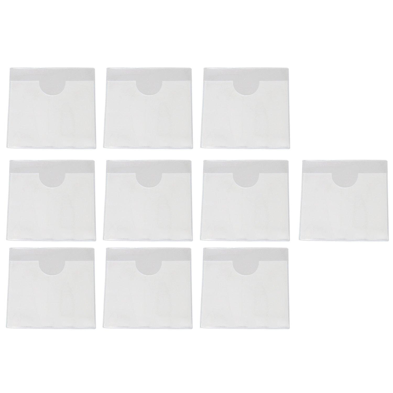 10 soportes de PVC transparente para permiso de aparcamiento vertical de vehí culo, para parking o pases de permiso, soporte para etiqueta para parabrisas de coche de 4,72 x 3,54 pulgadas Beetest