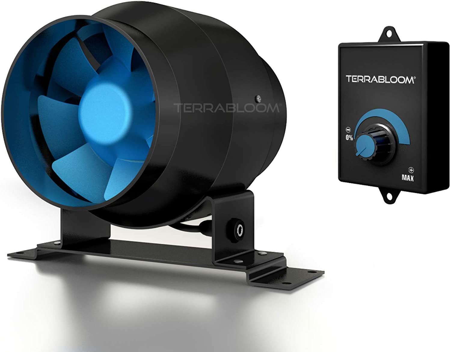 TerraBloom ECMF-100 Inline Duct Fan w/ Speed Controller