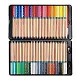 Marco Renoir® Fine 72 Colors Water Soluble Drawing Pencil Set Non-toxic Tin Wooden Painting Artist Sketching Craft Graphite with Iron box