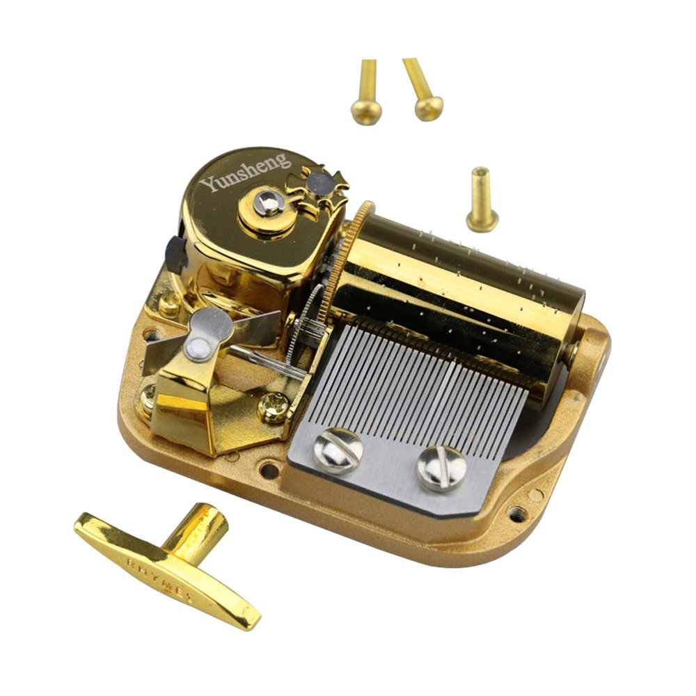 YouTang 30 Note Windup Gold Plating Clockwork Mechanism DIY Music Box Movement,Tune:Always with Me from The Spirited Away
