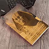 Case for Samsung Galaxy T820 T825 Slim Folding Stand Cover PU Tab S3 9.7,Egyptian Decor,The Great Sphinx Face with Other Pyramids in Egypt Old Historical Monument,Cream