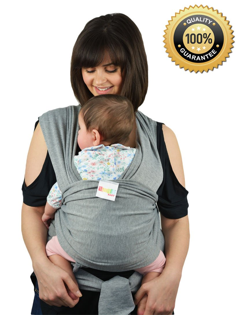 76487649ed1 Baby Carriers Sling Infant Wrap - Natural Cotton Multi Position Soft Sling  for Newborns Infants from