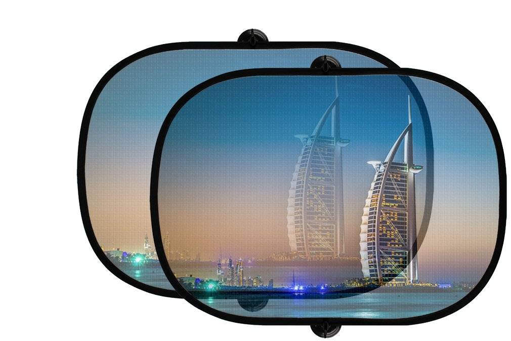 Burj Al Arab 5星ホテル2個折りたたみ式自動ウィンドウサンシェードメッシュ B07597W8TF