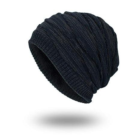 b079c224f Amazon.com : VJUKUBWINE Mens Winter Warm Knitting Hats Baggy Slouchy ...