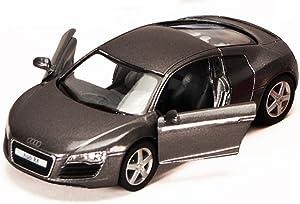 Audi R8, Gray - Kinsmart 5315D - 1/36 Scale Diecast Model Toy Car, but NO Box