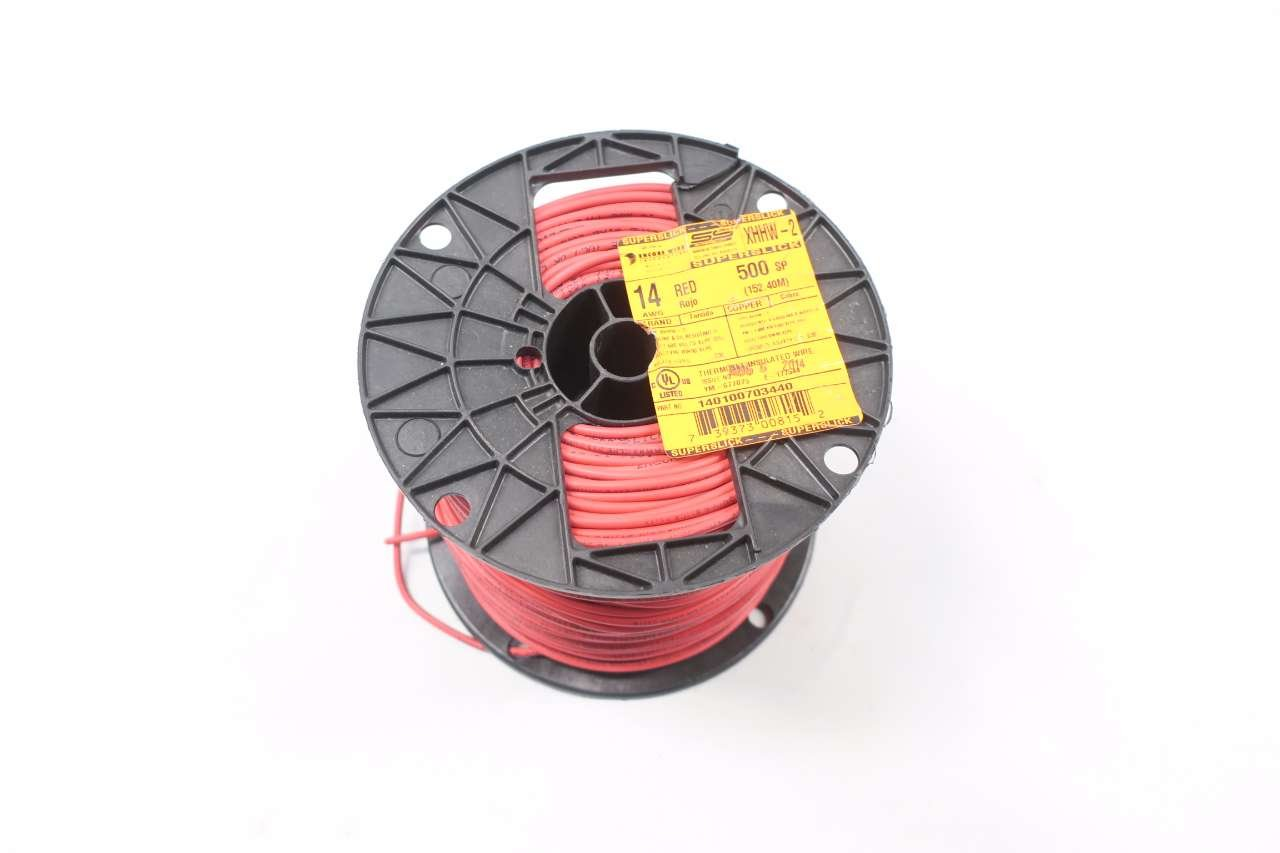Encore Wire 140100703440 Xhhw 2 14 Awg Copper Red 600v Electrical 400ft D574814 Industrial Scientific