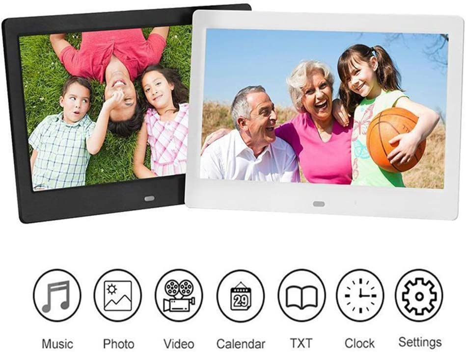 USB and Card Function Infrared Remote Control,White QOUP 12-Inch Widescreen Digital Photo Frame Video Playback Motion Sensor 1280800 Display