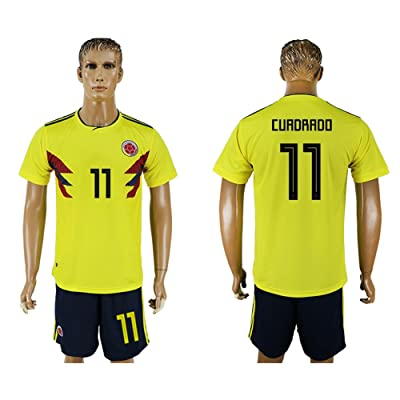 JUAN 2018 World Cup Colombia National Team #11 Soccer Jersey