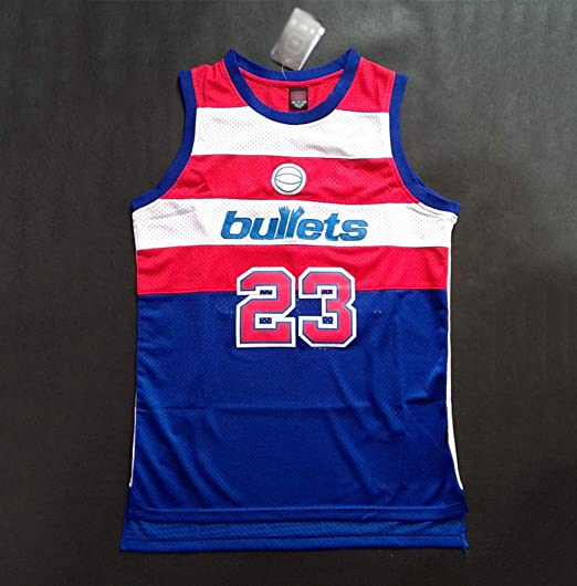 HSWU-DRESS NBA Baltimore Bullets Michael Jordan # 23 Camiseta De ...