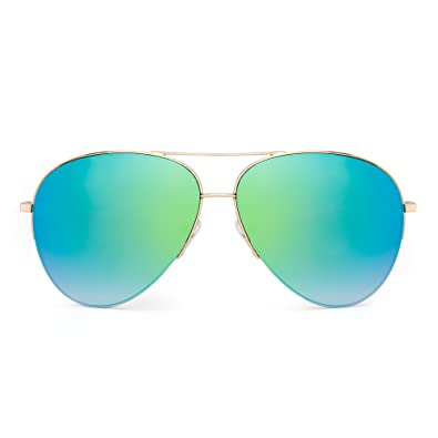 Amazon.com: Retro Espejo Aviator anteojos de sol ...