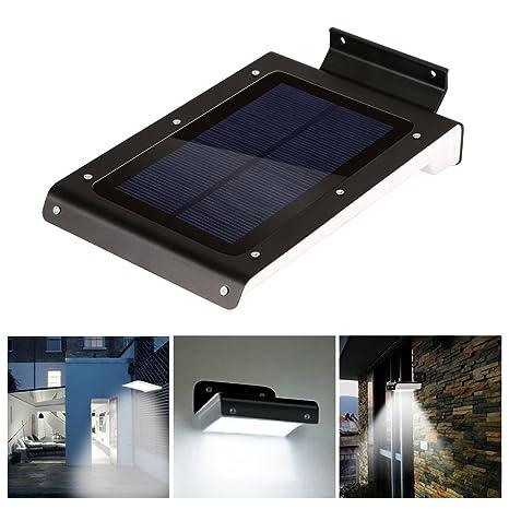 Kohree® Lámpara solar con detector de movimiento inalámbrico 46 LED solares para jardín, patio