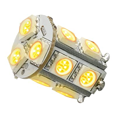 GG Grand General 74960 Light Bulb (1156 Amber 13 LED Tower Style, 12V, Pair): Automotive