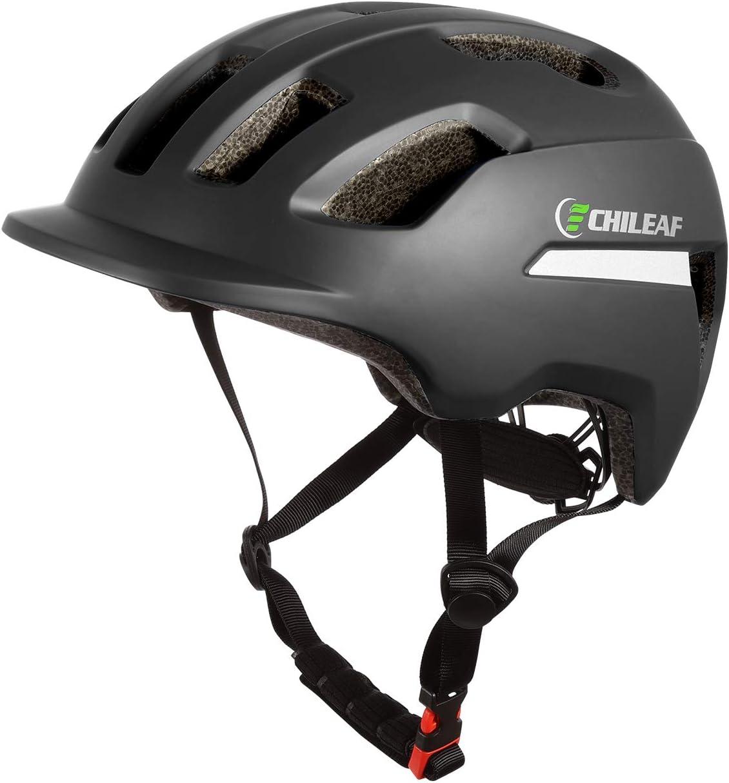 CHILEAF Jugend & Erwachsene Fahrradhelm CE EN1078, EPS-Körper + PC-Schale, Robust und Ultraleicht, mit reflektierendem Streifen und Abnehmbarem...