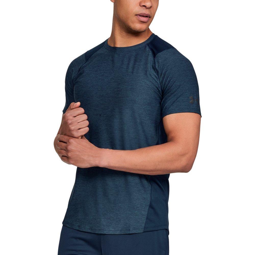 Under Armour Men's MK-1 Short Sleeve Shirt, Academy (408)/Stealth Gray, Small