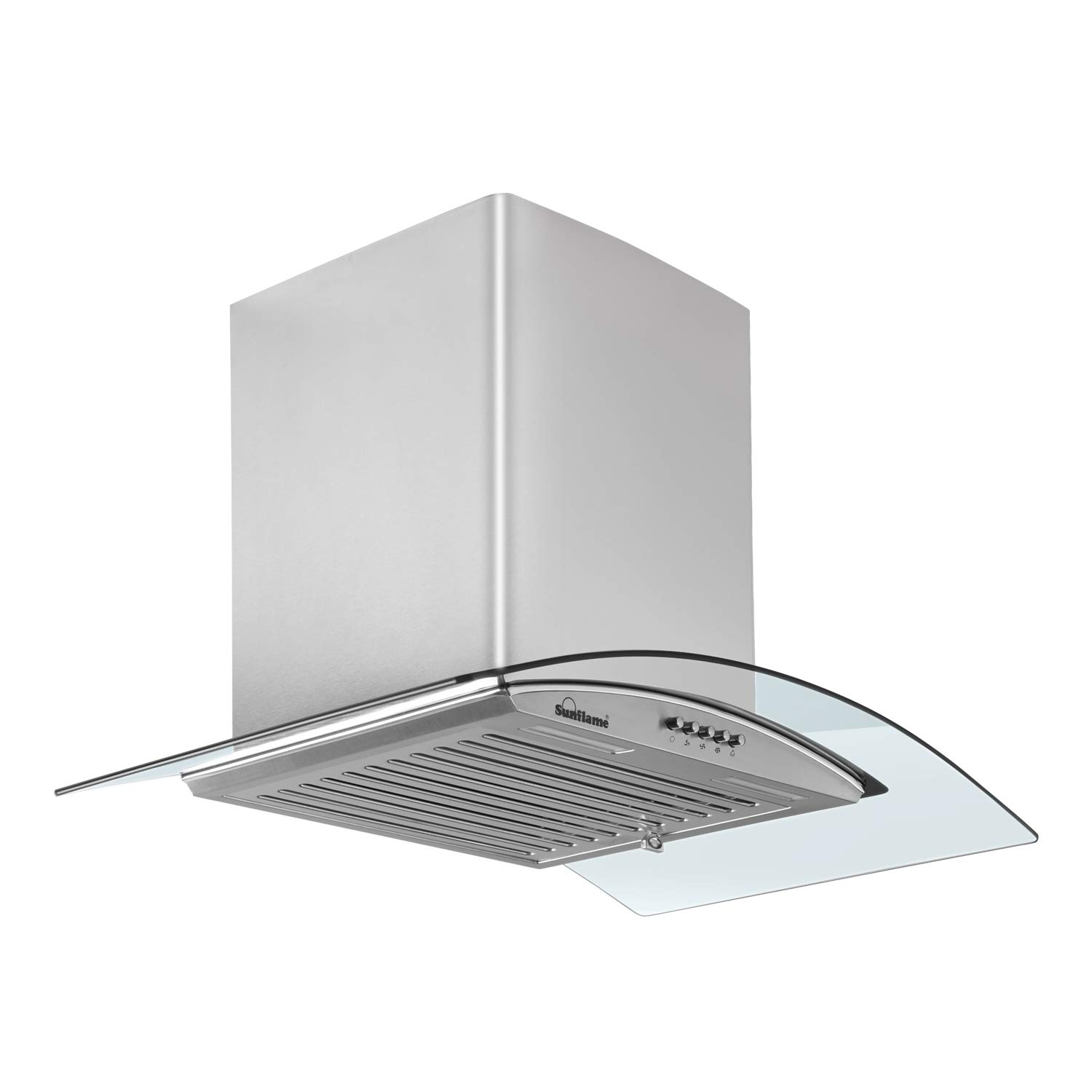 Sunflame 60 cm 1100 m³/hr Curved Glass Kitchen Chimney