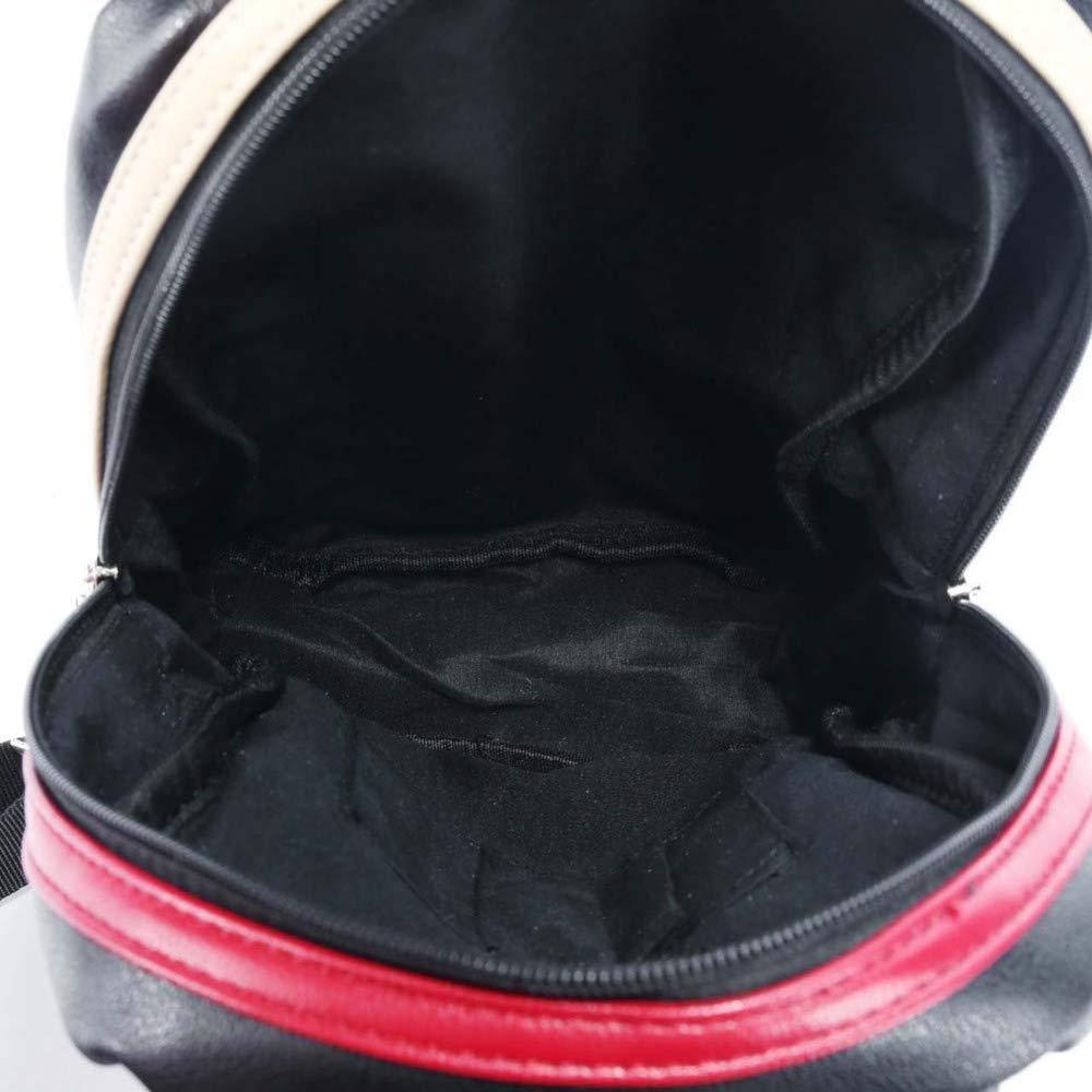 HOQTUM Sling Bag Mens Fashion Casual Chest Bag Outdoor Sports Hiking Shoulder Messenger Bag PU Leather Waterproof Backpack