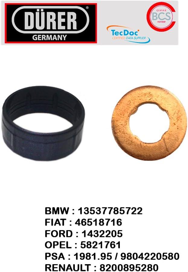 Kit joint dinjecteur 2 pi/èces Marque D/ürer 1,6 HDI 2