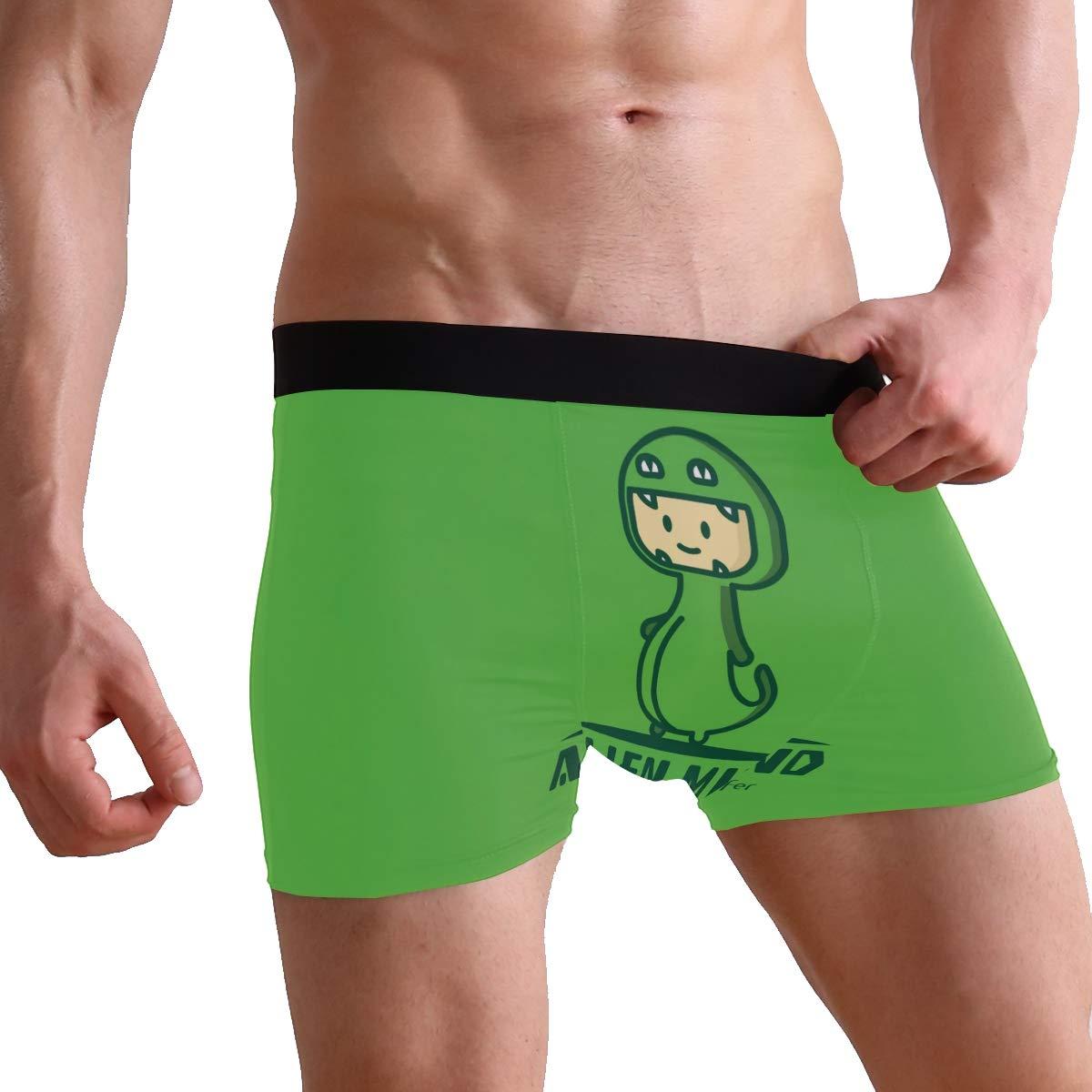 Jojogood Mens Dinosaur On Green Background Breathable Boxer Soft Briefs Classic Underwear Shorts
