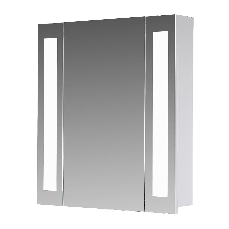 Eurosan 1 Türiger Spiegelschrank, Superflach, Integrierte  LED Frontbeleuchtung, Breite 60 Cm, Weiß, San Francisco, SF60: Amazon.de:  Küche U0026 Haushalt