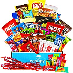 Ultimate Snacks Variety Box - Chips, Cookies, Candy Assortment Bundle Gift Pack - College Care Package (50 Count)