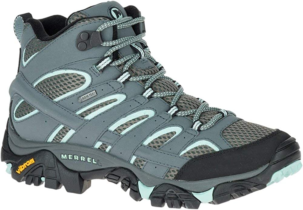 Merrell Women s Moab 2 Mid Gtx Hiking Boot, Sedona Sage, 6 W US