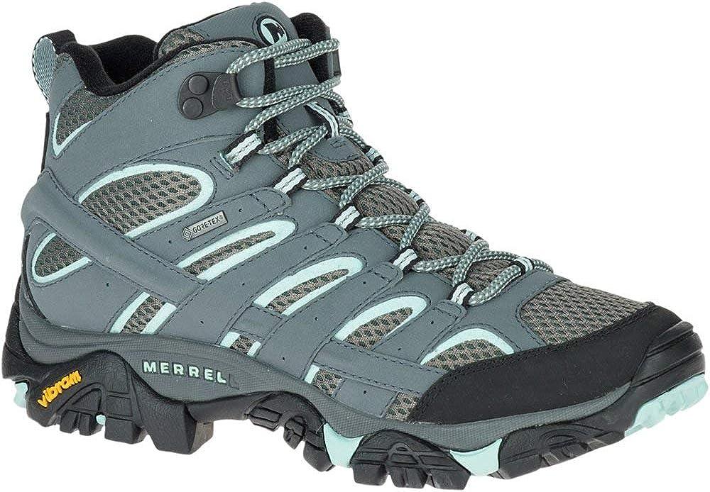Merrell Women s Moab 2 Mid GTX Hiking Boot, Sedona Sage, 5 W US