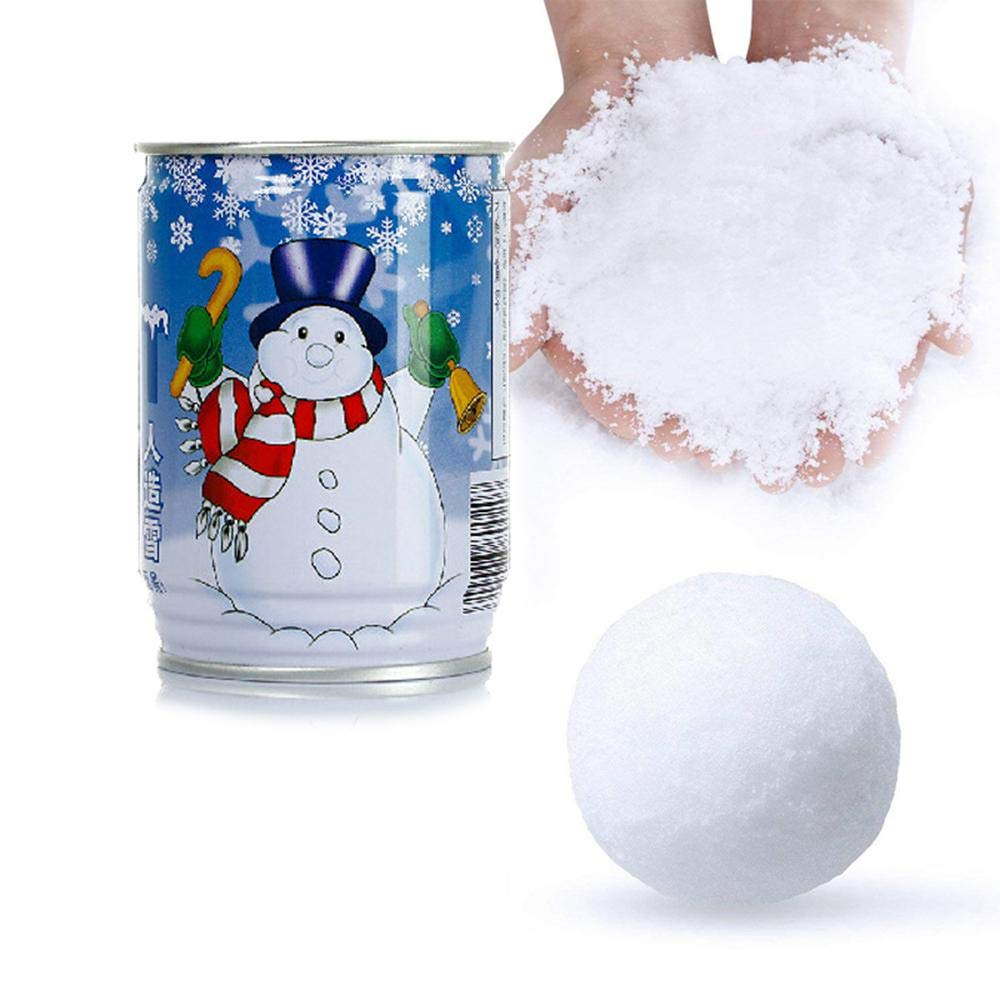 Auoker Instant Snow Powder per Slime, Magic Snow Powder make neve finta istantanea basta aggiungere acqua per Natale wedding Decor, Fluffy neve artificiale perfetto per cloud Slime forniture, sicuro e non tossico