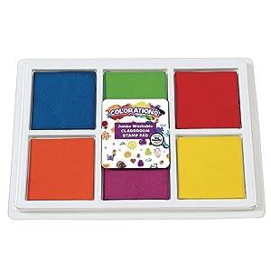 Colorations BIGSTAMP Jumbo Washable Classroom Stamp Pad