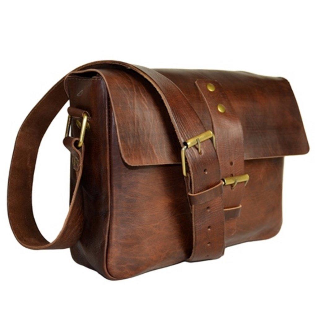 Aktentasche Schultasche Lehrertasche Umhä ngetasche Leder-Tasche Vintage 25 ME-46-11