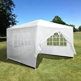 Yescom 10x10' White Outdoor Wedding Party Patio w/ Removable Side Wall Canopy for Fetes Event
