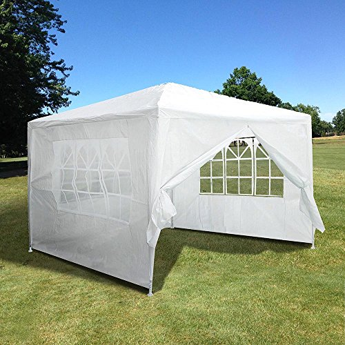 Yescom 10x10' White Outdoor Wedding Party Patio w/Removable Side Wall Canopy for Fetes Event by Yescom (Image #1)'