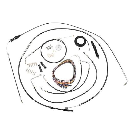 Amazon Com La Choppers Black Complete Cablelinewiring Handlebar