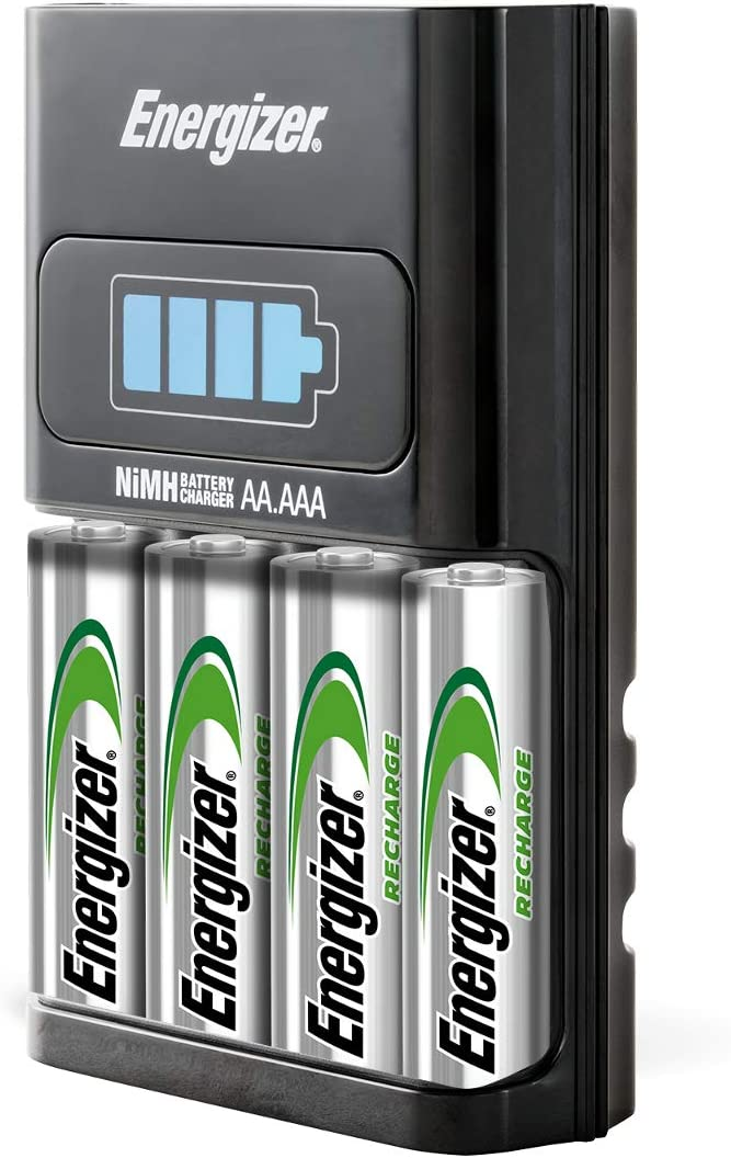 Energizer AA/AAA 1 Hour Charger with 4 AA NiMH Rechargeable Batteries (Charges AA or AAA batteries in 1 hour or less) CH1HRWB-4: Health & Personal Care
