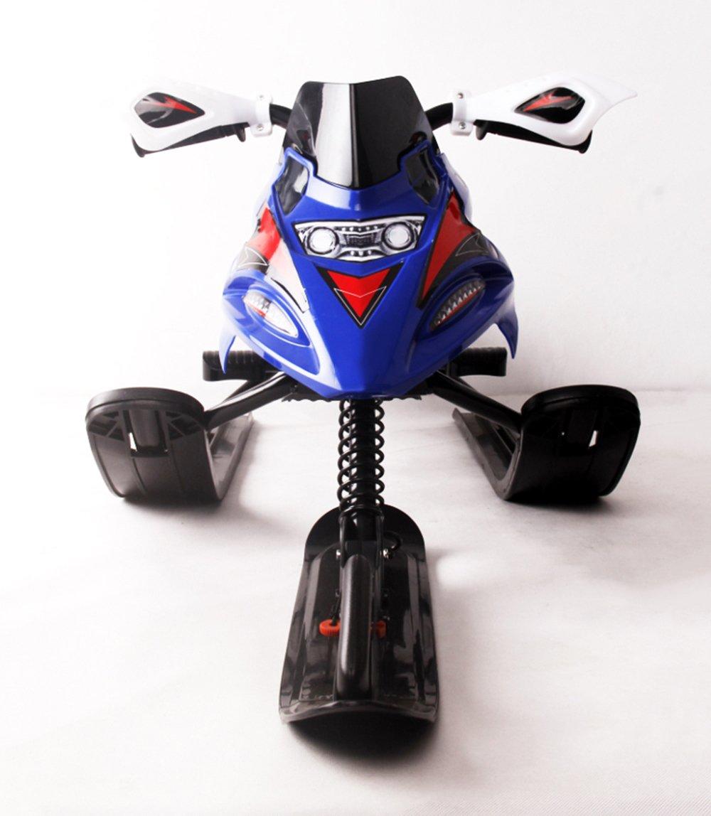 Winter Snow Racer Lenkung Moto Rush Schlitten auf Schnee/Gras/Sand/Ski/Slope mit Bremse geeignet für Erwachsene und Kinder, New Extreme Classic blau