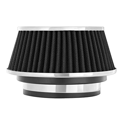 Spectre Universal Clamp-On Air Filter: High Performance, Washable Filter: Round Reverse Tapered; 3 in/3.5 in/4 in Flange ID; 2.625 in (67 mm) Height; 6 in (152 mm) Base; 4.75 in Top, SPE-8161: Automotive
