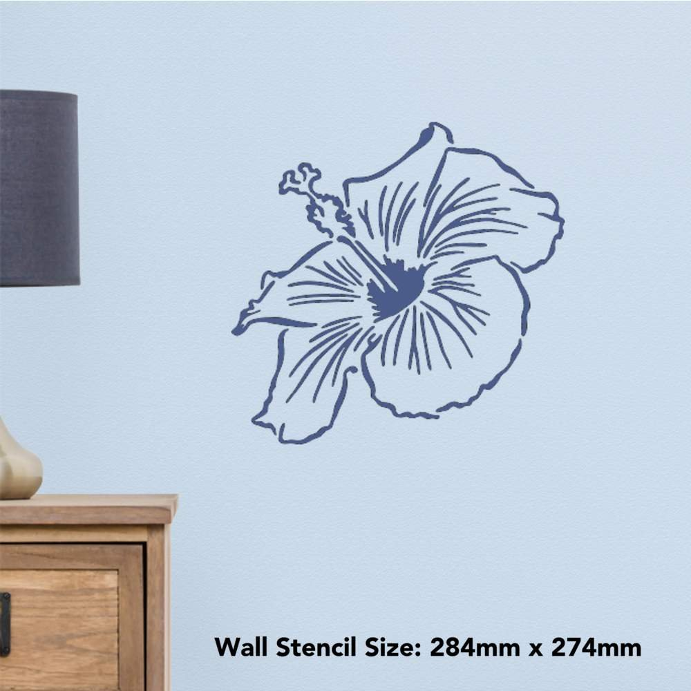Amazon azeeda a3 hibiscus flower wall stencil template amazon azeeda a3 hibiscus flower wall stencil template ws00020306 toys games izmirmasajfo