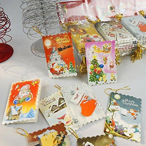 Edge 2gb Pc (Coohole 10 Pcs Small Merry Christmas Greeting Card Flash Powder Christmas Message Elevators Gift (A))