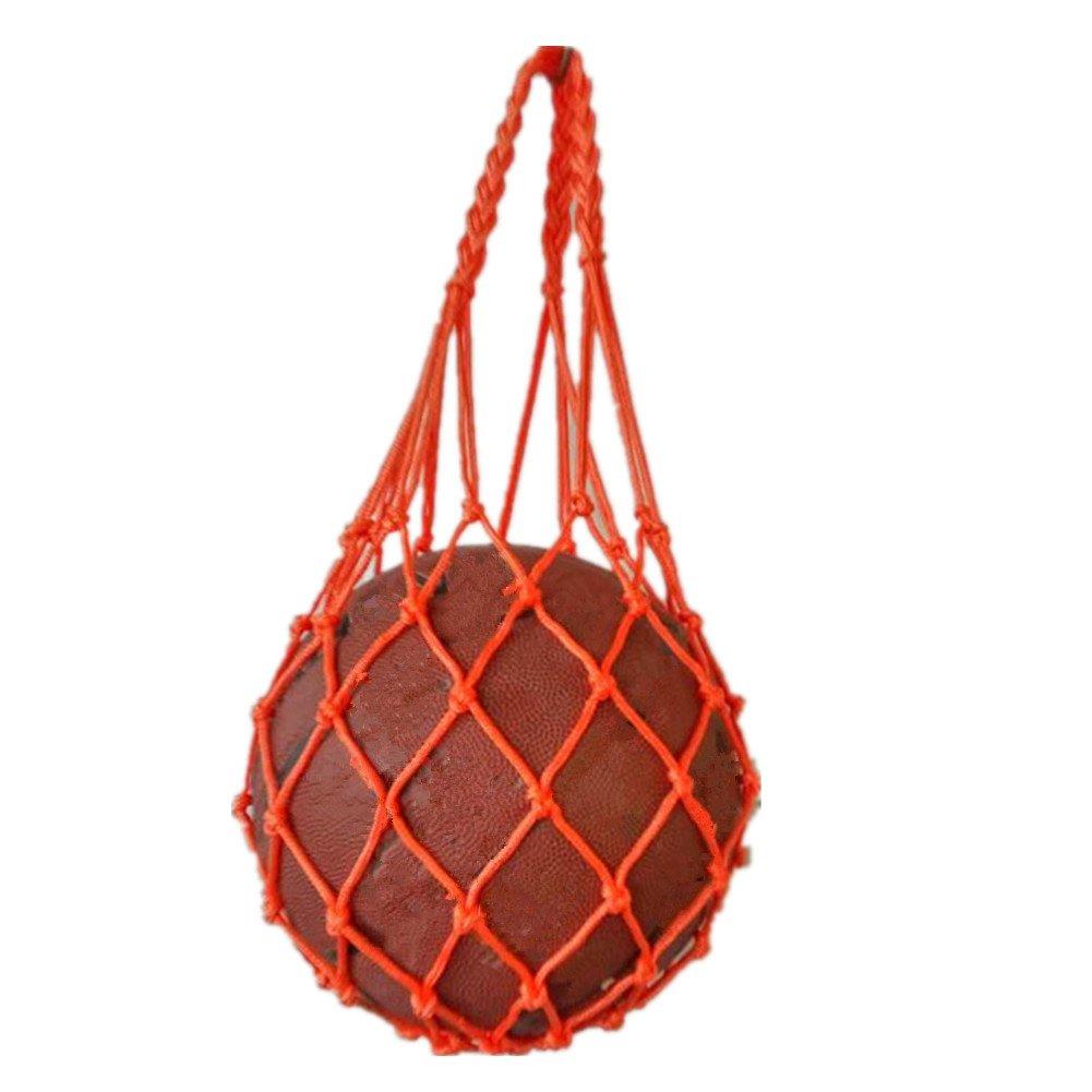 katechスポーツ機器メッシュバッグサッカーボールネットバッグポータブルポリエステルストレージキャリアのバスケットボールサッカーバレーボールHousehold B071L2LPNX オレンジ オレンジ