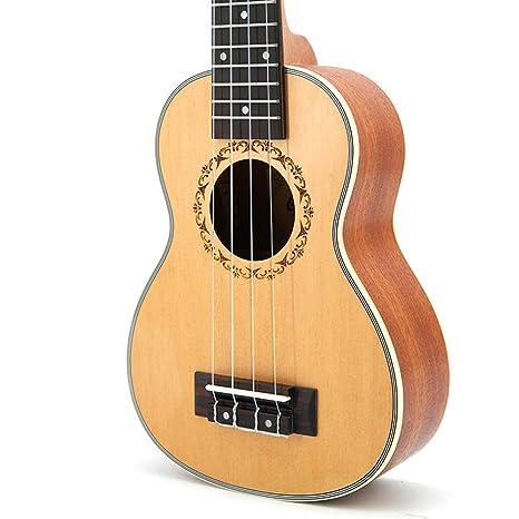 HOUYAZHAN Ukulele ukulele 21 pulgadas guitarra pequeña ukelele ...