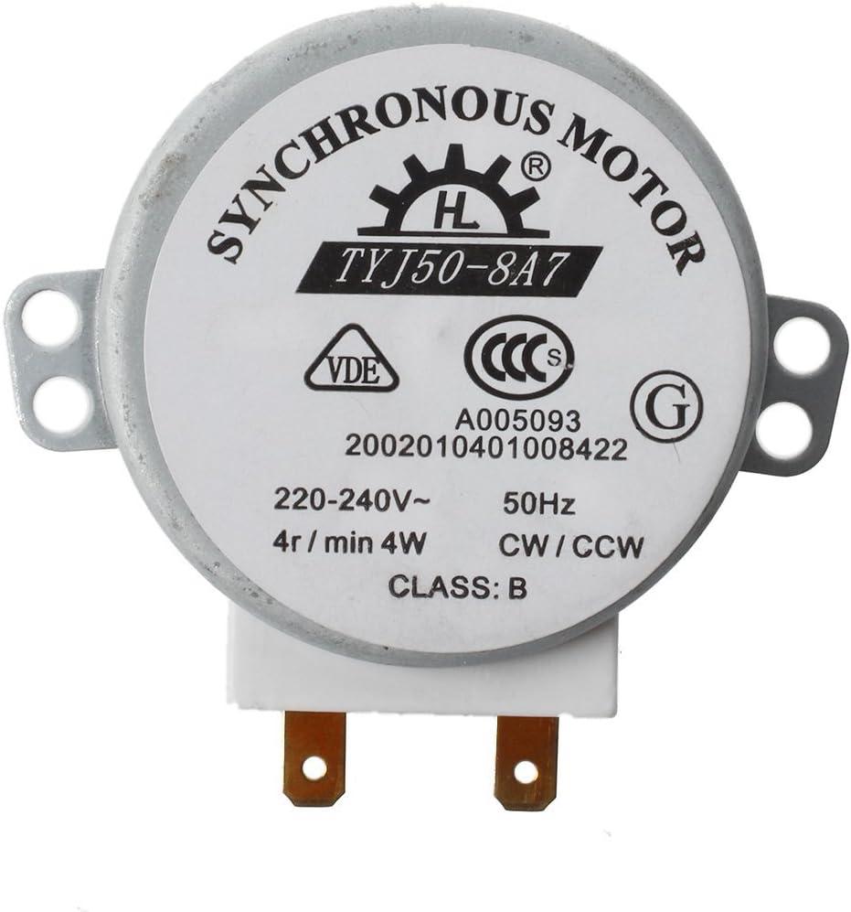 Motor de microondas - SODIAL(R)Motor sincrono micro para hornos de microondas AC 220-240V 4W 4RPM