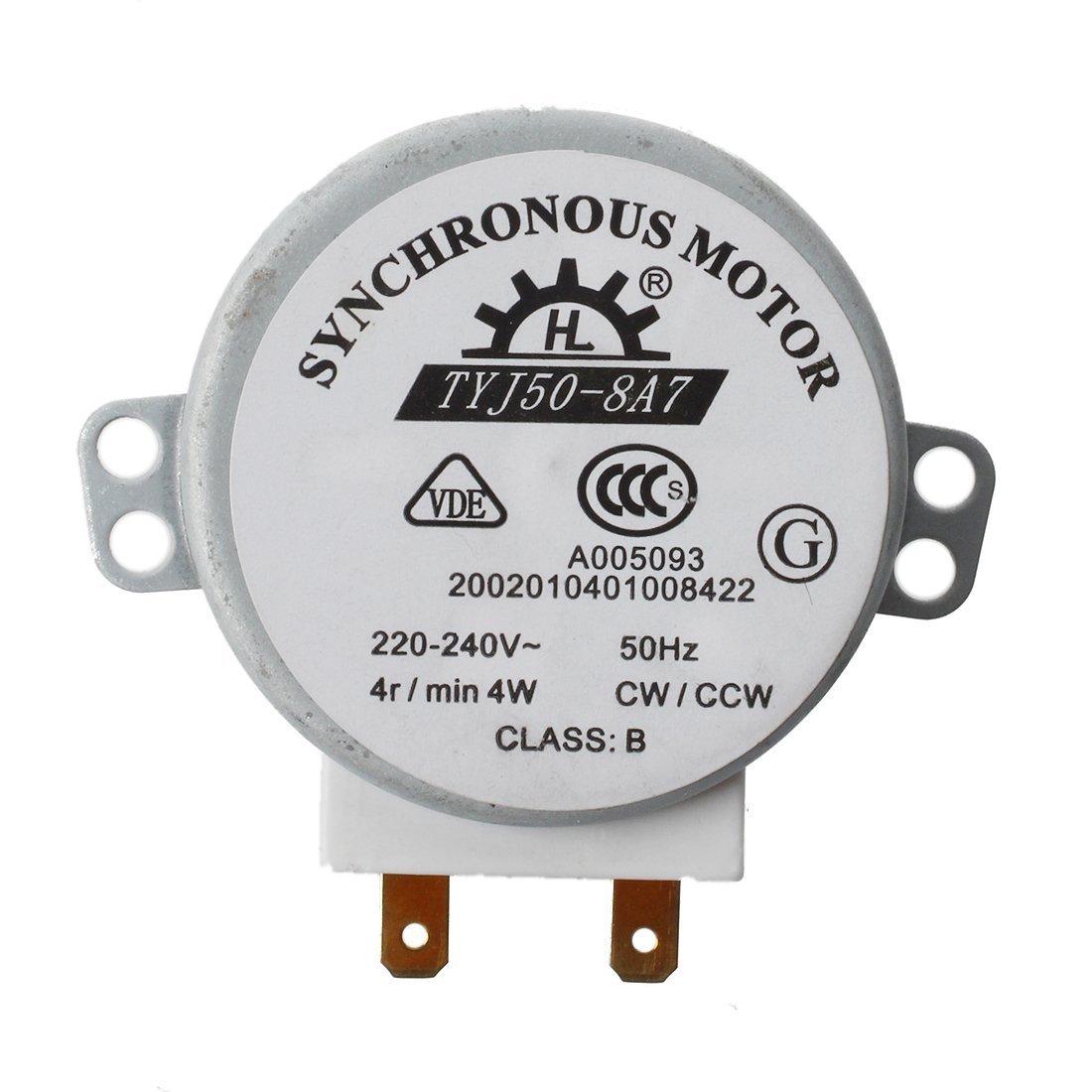 Motor de microondas - TOOGOO(R)Motor sincrono micro para hornos de microondas AC 220-240V 4W 4RPM