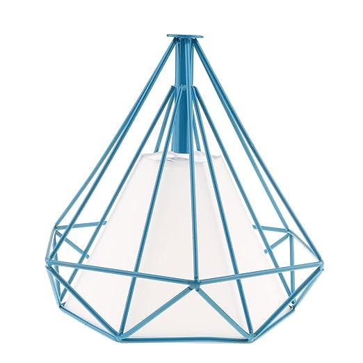 F Fityle Hogar Decorativo Alambre Diamante Loft Colgante Luz De ...