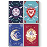 Pillow & Toast Inspirational Quotes For Crystal People, Set of FOUR, 11X17, Magical Positive Thinking Posters, Boho Chic Wall Decor Ready To Hang On Wall. Get Inner Peace and Motivation.