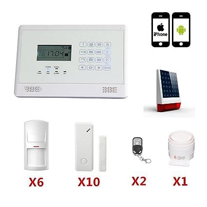 SZABTO Inalámbrico teclado táctil Home Kit de seguridad Sistema de alarma con detector de movimiento PIR