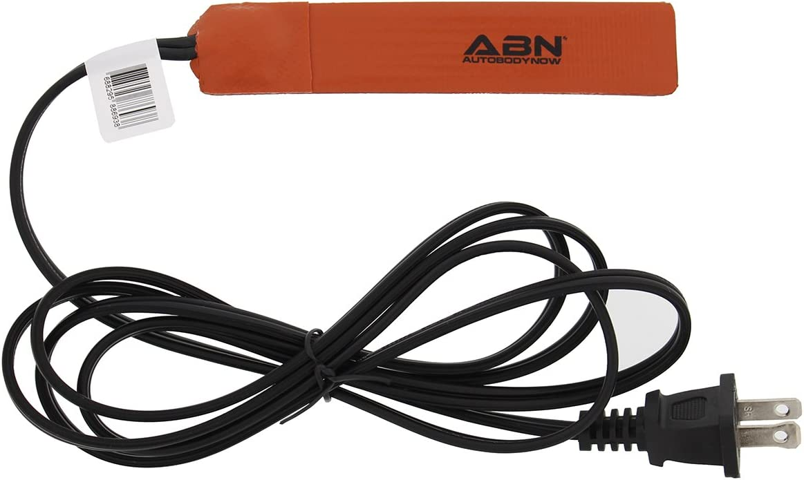 ABN Silicone Heating Pad 120V - 1 x 5 Inch Universal Engine Heater Car Oil Pan Heater Pad, 25W Electric Heater Pad