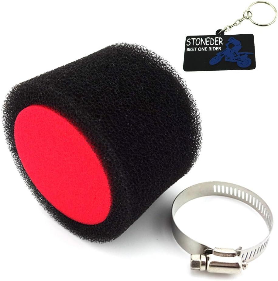 Stoneder nero rosso 45/mm filtro aria Clearner per cinese Pit Bike Dirt Trail motore moto ATV Quad motocross Buggy Go Kart 125/cc 140/CC 150/cc