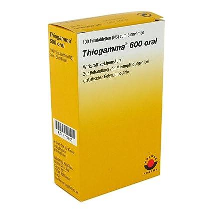 THIOGAMMA 600 oral 100pc película tabletas PZN: 4774626
