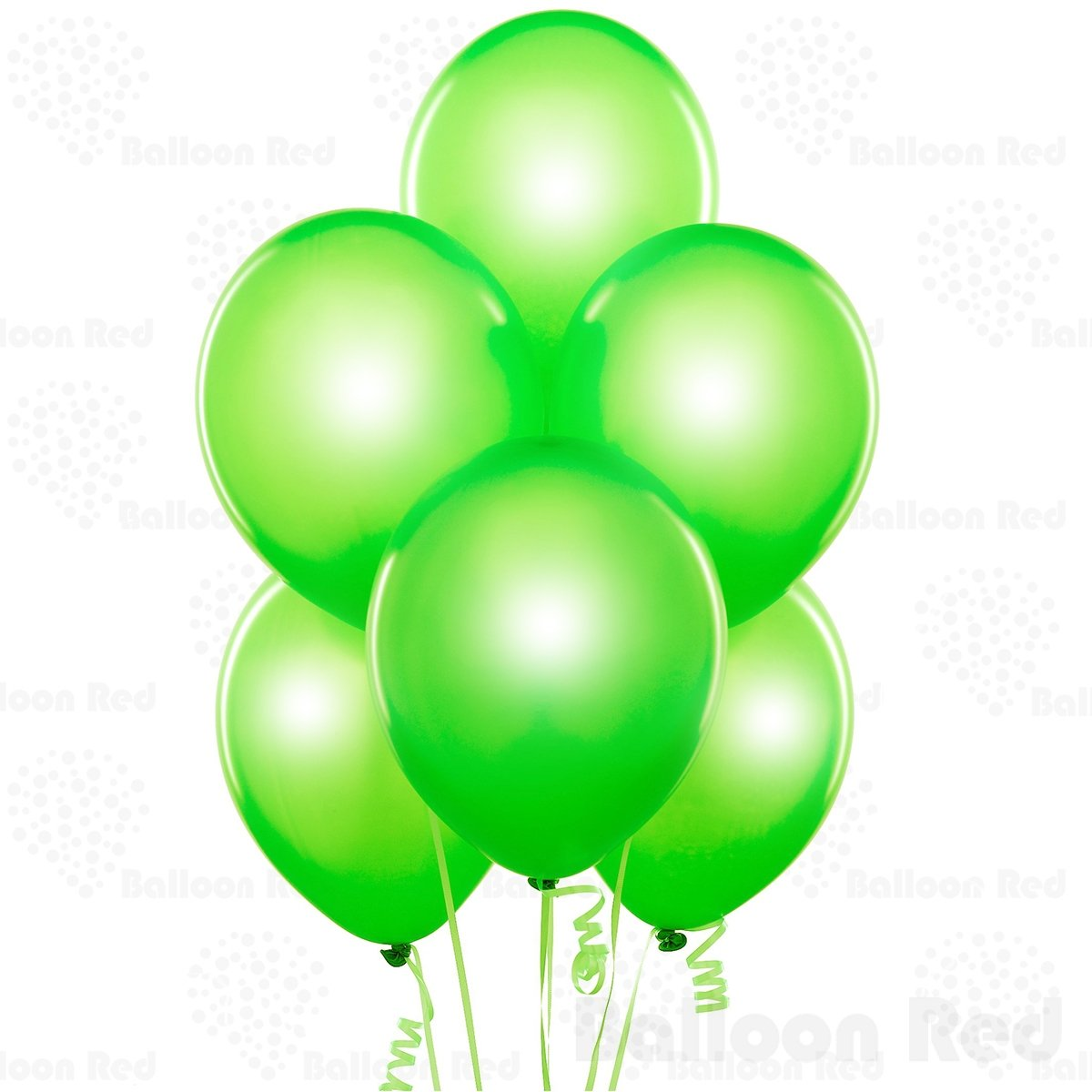Pack of 100 10 Inch Pearlized Latex Balloons Premium Helium Quality Metallic Emerald Green
